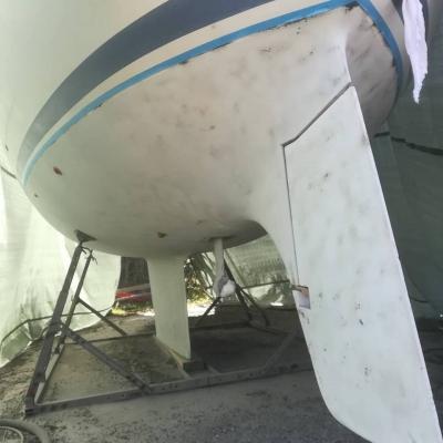 Glasfiberbåd blæst