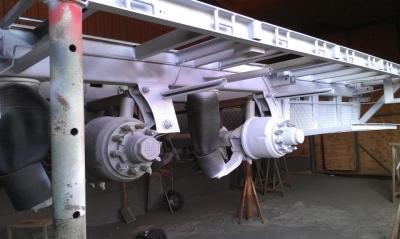 Bådtrailer metalliseret